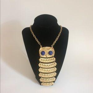 Jewelry - Vintage Goldstone Owl Pendant